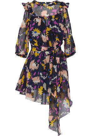 ALICE McCALL Get In Line cold-shoulder floral-print georgette mini dress