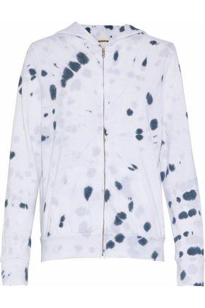 MONROW Tie-dyed fleece hoodie
