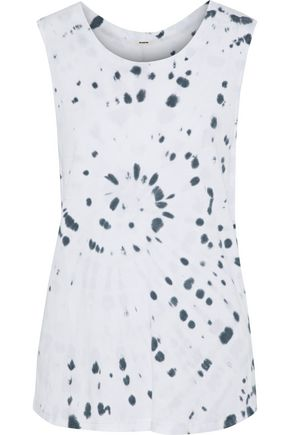 MONROW Tie-dyed modal and Supima cotton-blend jersey tank