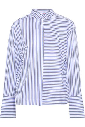 DIANE VON FURSTENBERG Striped cotton-poplin shirt