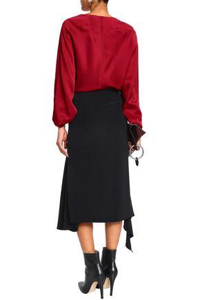 CHALAYAN Satin-crepe blouse