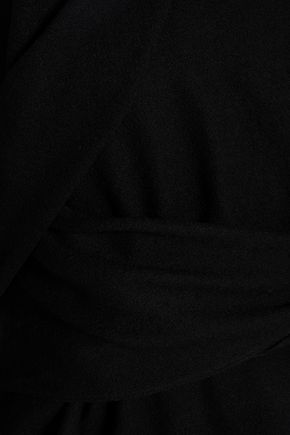 CHALAYAN Wrap-effect draped wool top