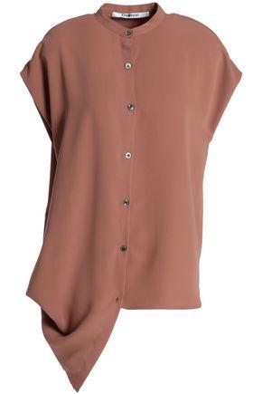 CHALAYAN Draped crepe de chine shirt