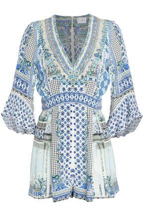 CAMILLA | Camilla Salvsumm Printed Silk Crepe De Chine Playsuit | Goxip