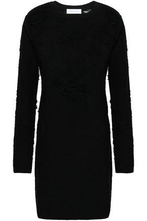IRO Distressed cotton-blend mini dress