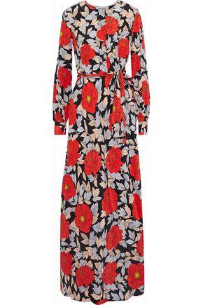 DIANE VON FURSTENBERG Belted floral-print silk maxi dress b714dbbf3