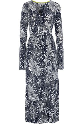 DIANE VON FURSTENBERG Calloway printed silk crepe de chine midi wrap dress