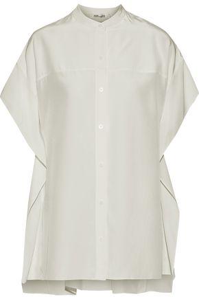 DIANE VON FURSTENBERG Silk-charmeuse blouse