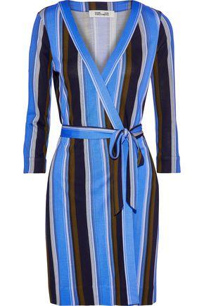 DIANE VON FURSTENBERG Julian floral-print silk-jersey mini wrap dress