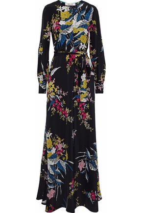 DIANE VON FURSTENBERG Floral-print silk-crepe maxi dress