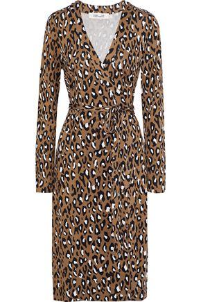 DIANE VON FURSTENBERG Cybil leopard-print silk-jersey wrap dress