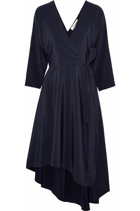 DIANE VON FURSTENBERG Asymmetric silk-charmeuse wrap dress