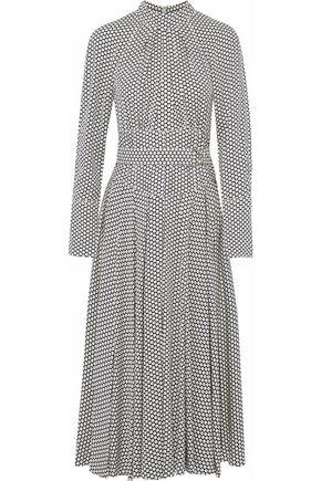 DIANE VON FURSTENBERG Belted polka-dot stretch-silk midi dress