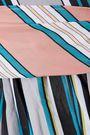 DIANE VON FURSTENBERG Paneled striped cotton-poplin midi wrap dress