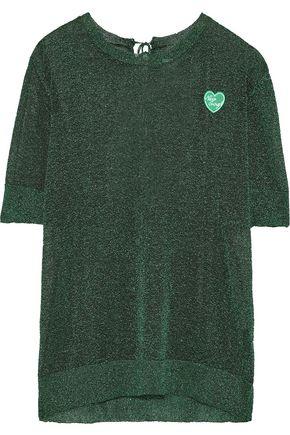 ZOE KARSSEN Appliquéd metallic stretch-knit T-shirt