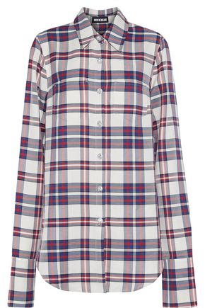 HOUSE OF HOLLAND Button-detailed checked twill shirt