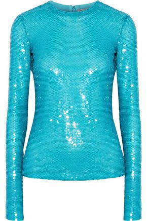 EMILIO PUCCI Sequined mesh top