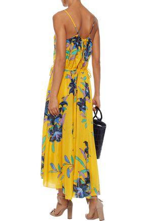 DVF WEST DIANE VON FURSTENBERG Floral-print cotton and silk-blend organza midi dress