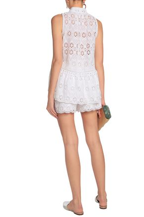 KATE SPADE New York Broderie anglaise cotton shorts