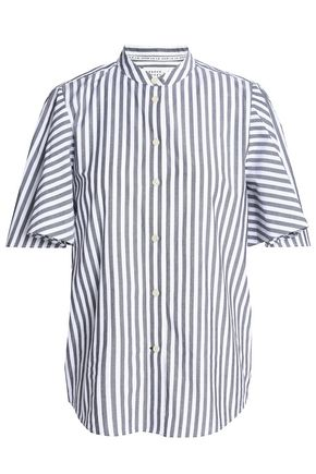 KATE SPADE New York Broome Street striped cotton-poplin top