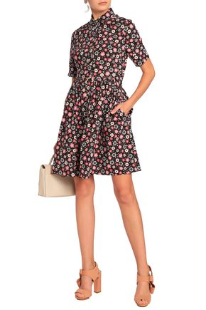 8e639043a4 KATE SPADE New York Gathered floral-print stretch-cotton poplin mini dress