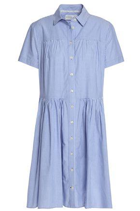 KATE SPADE New York Broome Street striped cotton-poplin shirt dress