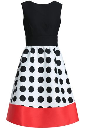 KATE SPADE New York Flared polka-dot crepe dress