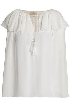KATE SPADE New York Ruffled crepe de chine blouse