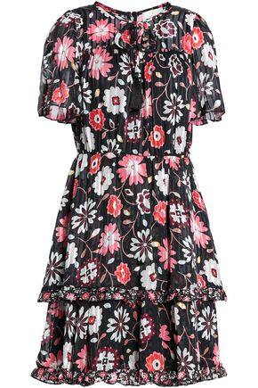 KATE SPADE New York Casa Floral floral-print burnout silk-satin mini dress