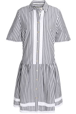 KATE SPADE New York Broome Street striped cotton-poplin shirt dress