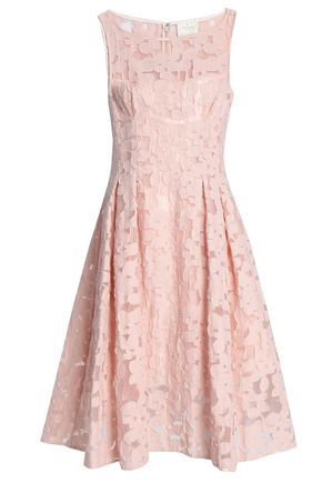 KATE SPADE New York Pleated fil coupé organza dress