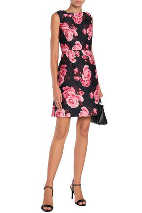 b01b9d7f85e KATE SPADE New York Rosa bow-embellished floral-print ponte mini dress