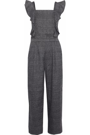 W118 by WALTER BAKER Tartan Prince of Wales checked tweed jumpsuit