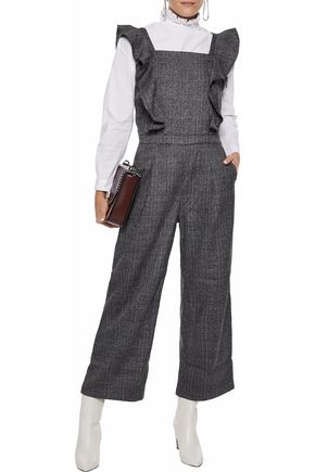 W118 by WALTER BAKER Tartan Prince of Wales checked tweed jumpsuit