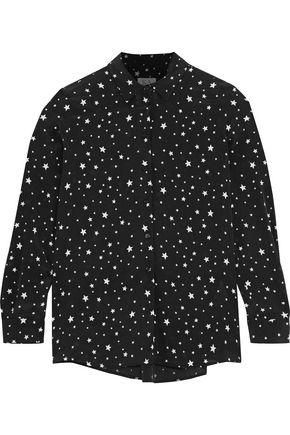 ZOE KARSSEN Printed washed-silk pajama top