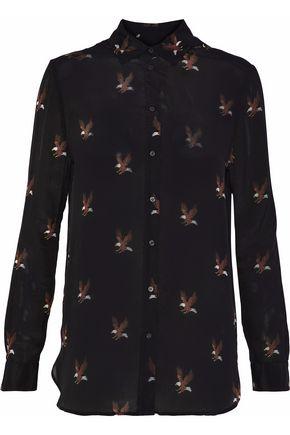 ZOE KARSSEN Printed silk crepe de chine shirt