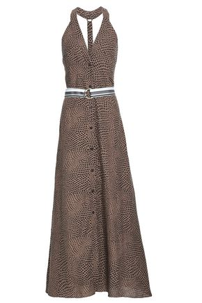 DIANE VON FURSTENBERG Belted printed linen maxi dress