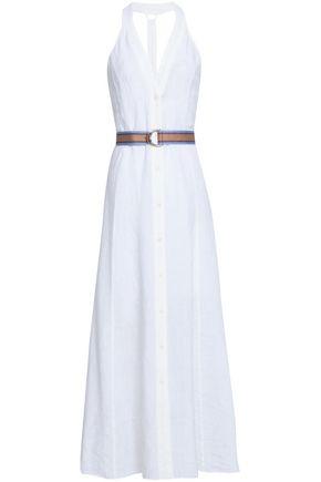 DIANE VON FURSTENBERG Belted linen maxi dress
