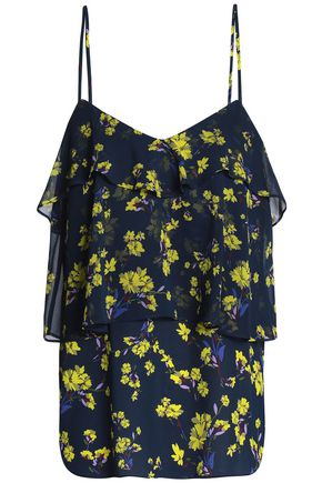 GOEN.J Tiered floral-print georgette camisole