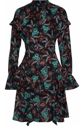 W118 by WALTER BAKER Fiona ruffled floral-print crepe de chine dress