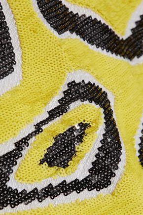 EMILIO PUCCI Sequined silk crepe de chine mini dress