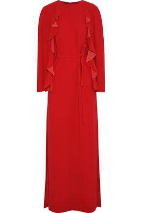 GOEN.J Cape-back crepe maxi dress