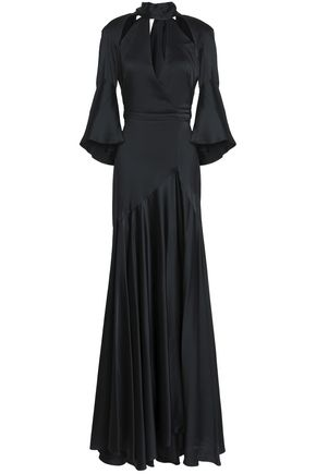 TEMPERLEY LONDON Fluted cutout satin-crepe gown
