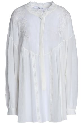 IRO Embroidered gauze blouse
