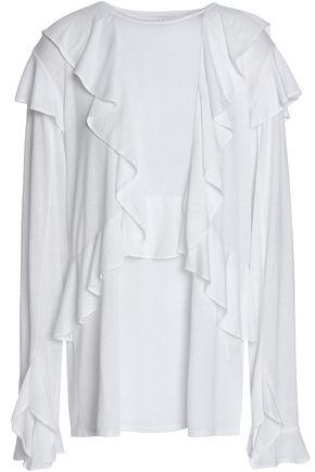 IRO Nampa ruffled slub jersey top