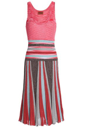 MISSONI Metallic crochet and jacquard-knit dress