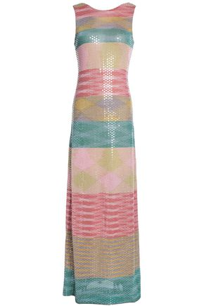 MISSONI Sequined jacquard-knit gown