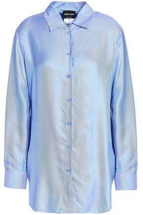 GIORGIO ARMANI Iridescent silk-oxford shirt