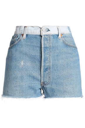 RE/DONE by LEVI'S Two-tone denim shorts