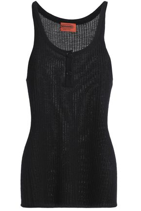 MISSONI Ribbed cashmere and silk-blend tank